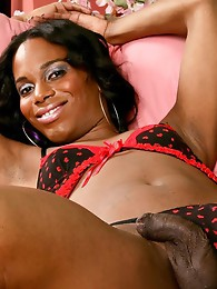 Black T-Girl with a thick cock