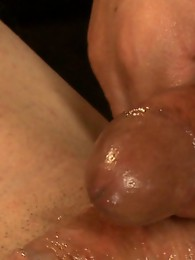 Ass fucking until he gapes - Foxxy drives her cock right into the fantasy of a new guy, right up his ass, his mouth, smothering him, cumming on him.