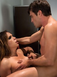 Cupid is a lady with a thick cock - sexy latina TS teases and fucks a tied up guy who gets fucked until her gapes. Two huge cum loads, foot jobs &