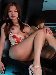 Hot Carmen jerks her hard dick