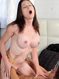 Eva Cassini is a sexy girl with a stunning pale body, huge boobs, an ass made for fucking and a sexy cock! She wanted to get her hands on Giovanni as