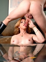 Naughty TMILF Jasmine Jewels in hot blowjob action