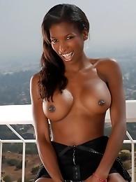 Adorable Natassia Dreams exposing her ebony body