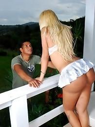 Bruna Prado Banged By Ed On The Porch
