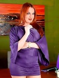 Redhead horny secretary Wendy Williams